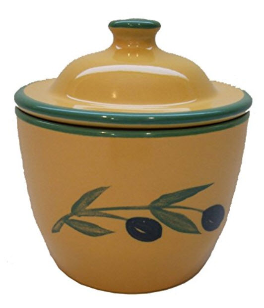KERAMIK-Deckel-Cooks-Innovations-Ceramic-Garlic-Keeper-Hand-Painted-With-Decorative-Olive-Design
