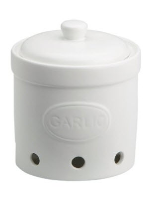 STEINGUT-The-Drh-Collection-BIA-Embossed-White-Pottery-Garlic-Cellar